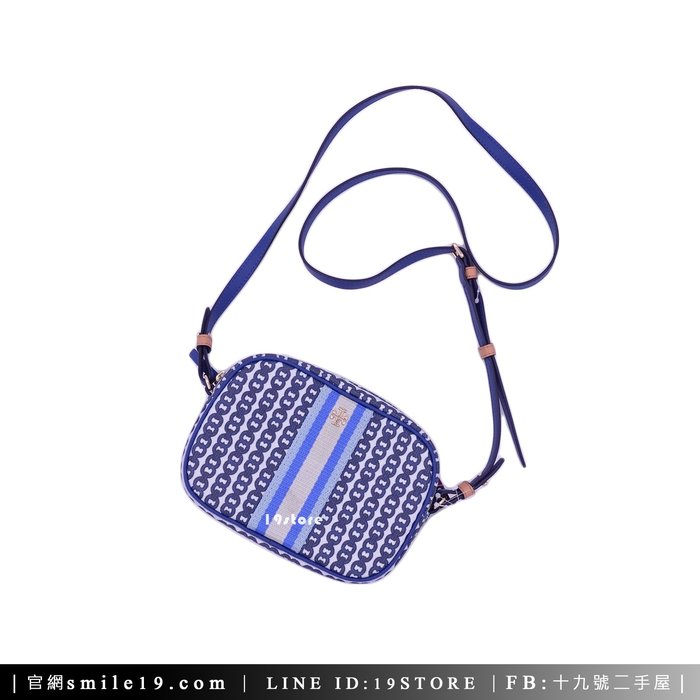 《十九號二手屋》TORY BURCH Gemini Link Canvas Mini Bag 迷你相機包 單肩斜背包