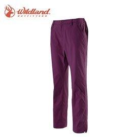 丹大戶外【Wildland】荒野 女彈性透氣抗UV九分褲 0A11331-59 芋紫色