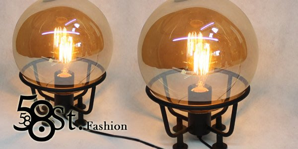 【58街】義大利設計師款式「微透玫瑰金玻璃檯燈、台燈」。複刻版。GL-128