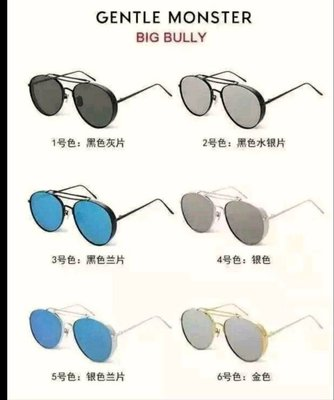 GENTLE MONSTER Big bully  正品