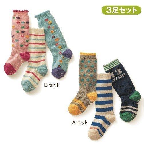 **阿布童裝**【C4129】新款愛心條紋小花數字星星款中筒襪短襪//寶寶防滑襪/襪子(3枚組) 9-15CM