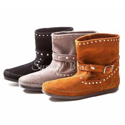 【MINNETONKA】STUDDED STRAP鉚釘繞帶短靴-3色 現貨免運