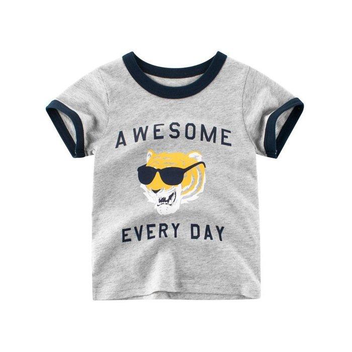 韓版    童裝 夏季年夏天新款  兒童  短袖 T恤 純棉男孩子的衣服