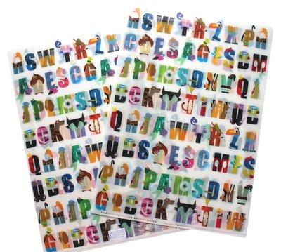 【卡漫迷】 迪士尼 L字型 資料夾 二入組 字母滿版 ㊣版 A4 雙面 文件夾 檔案夾 L夾 Disney 英文 日本製