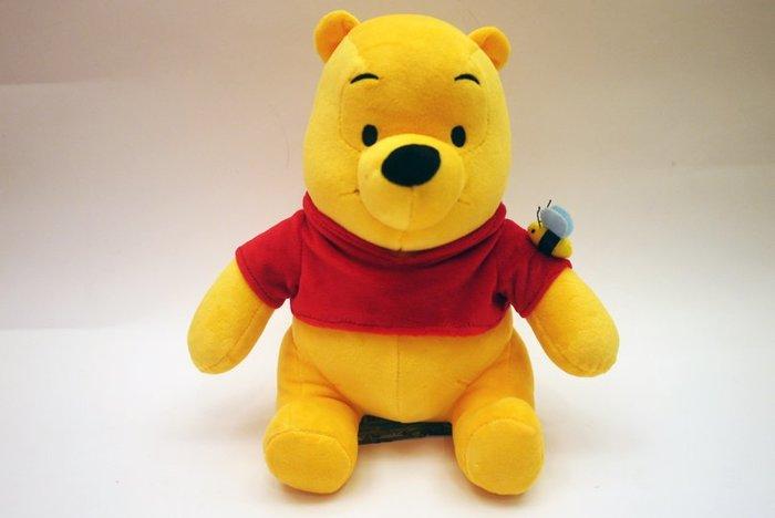 正版 迪士尼 小熊維尼 絨毛娃娃 造型布偶 抱枕 娃娃 生日 禮物 高約30公分