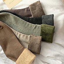 NANAS 【N1283】要入好多雙~chic韓國不怕冷暖暖加厚加絨直筒襪堆堆襪 特價 預購