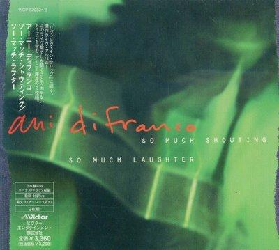 K - Ani DiFranco So Much Shouting Laughter 日版 2CD+1BONUS NEW