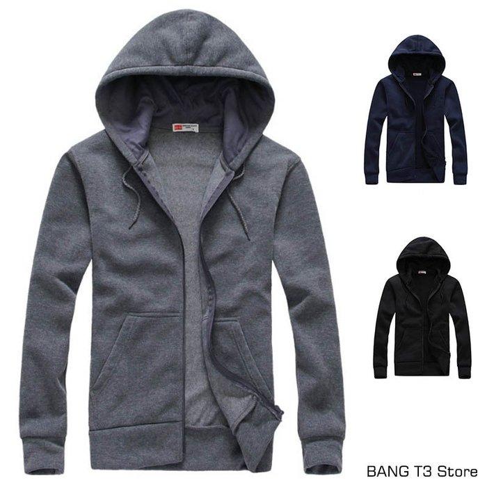 連帽外套 男生 抓絨 外套 秋冬外套 休閒外套 夾克 BANG 刷毛外套【MJ11】