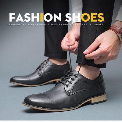 『老兵牛仔』JS8805歐美夏季男士商務休閒鞋皮鞋/頭層牛皮/時尚/彈力/耐摩/個性