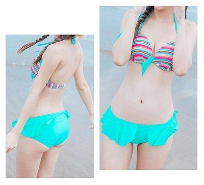 【Hao Da】全館399免運↘「現貨」綁帶花布 二件式比基尼 泳裝泳衣 (S2001)
