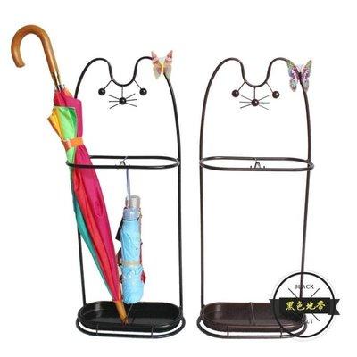 招財貓鐵藝家用雨傘架掛折疊傘