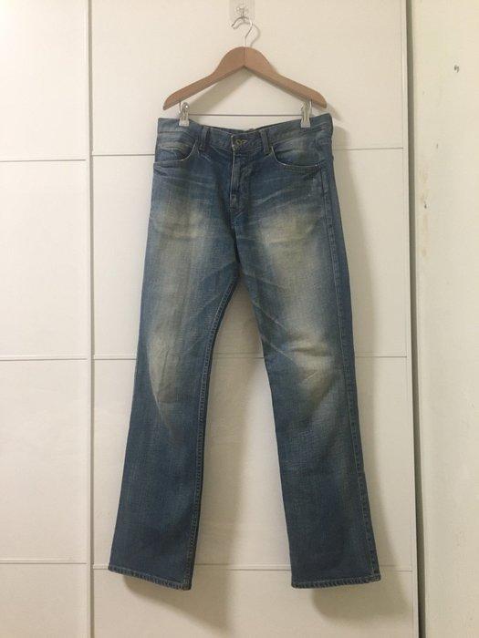 朵拉媽咪【二手 8成新】男裝 日本購入 日本製 Browny Vintage 刷白 古著 牛仔褲 Size32