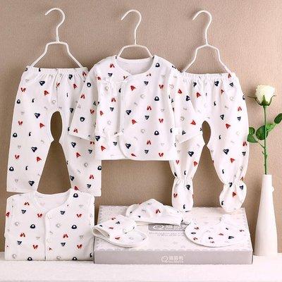 初生寶寶衣服棉質新生兒衣服0-3月嬰兒套裝用品春秋冬季滿月禮盒js  全館免運