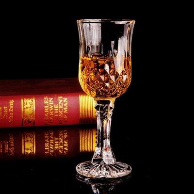 弗萊文茨水晶玻璃?石紅酒杯套裝家用威士忌高腳杯洋酒杯葡萄酒杯yi   全館免運
