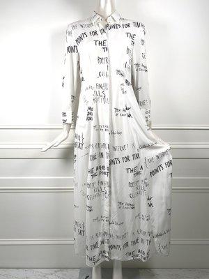 [我是寶琪]EACH X OTHER 字母塗鴉襯衫洋裝