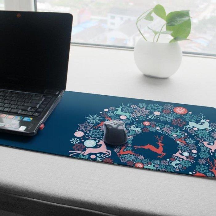 定制超大筆記本電腦辦公桌墊鎖邊創意插畫加厚大號文藝游戲鼠標墊