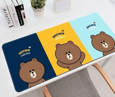 韓國 Line Friends 熊大 兔兔 防水辦公桌墊  滑鼠墊 加大滑鼠墊 750x300x3.5mm 6款