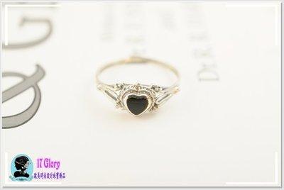 古典甜美天然黑瑪瑙925純銀戒指 神秘高雅堅如愛情之美~歐洲宮廷設計款~ 送情人 閨蜜✽ 17 Glory ✽