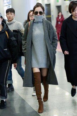 秋冬古力娜扎明星同款毛衣女慵懶風加厚寬松新高領套頭中長款針織新衫ak