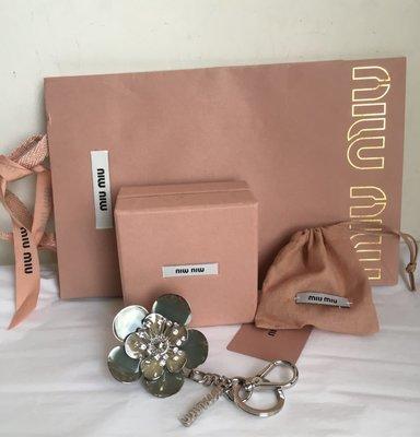 MiuMiu (立體雙面晶鑽花朵)鑰匙吊飾(🙋分享收藏價!)