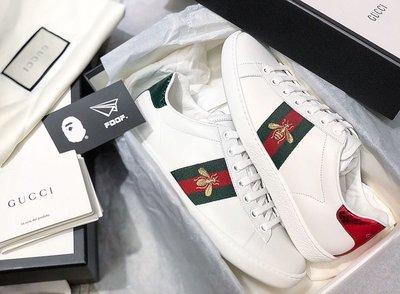 [FDOF]現貨+預購 Gucci 小蜜蜂 刺繡 運動皮鞋 小白鞋 蜜蜂鞋 歡迎店取驗貨