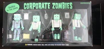 【亞洲航線】歐美購THE CUBES ACCOUTREMENTS   4位上班族殭屍人偶 新奇玩具