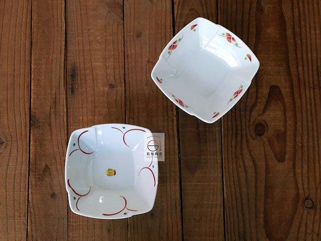 +佐和陶瓷餐具批發+【XL060820-8.9 赤繪角缽-日本製】小菜碗 家用餐廳 甜點 涼拌