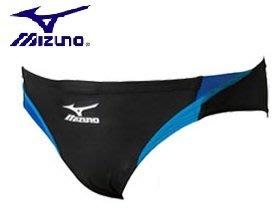 ~有氧小舖~美津濃MIZUNO競賽型MIGHTY LINE III三角泳褲N2JB402492黑/藍 國際FINA認證
