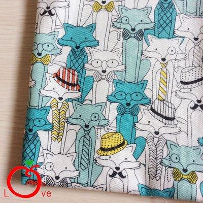 *樂芙領巾/手作*狐狸先生款(韓國薄棉布),嬰兒/兒童三角巾、口水巾、圍兜,可訂製大小及親子領巾