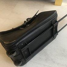原價近九萬 Dunhill 登喜路 黑色皮質商務人士登機行李箱