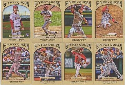 年度經典球卡~~2011 Gypsy 天使隊看版球星 Morales + Abreu 超美畫卡一套八張