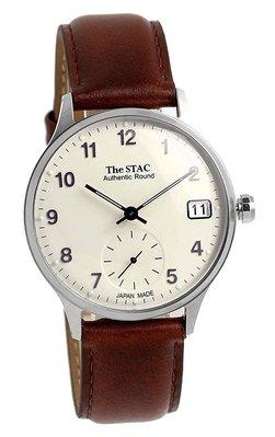 日本正版 The STAC st-ar001-asvbr Authentic Round 手錶 日本製 日本代購