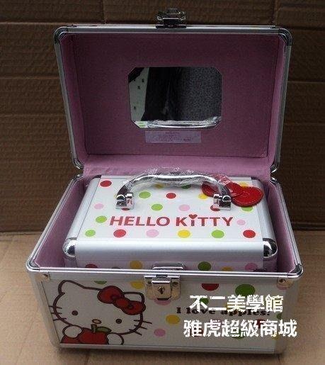 【格倫雅】^hello kitty 化妝箱 K旅行箱 手提化妝箱 首飾箱 子母箱439