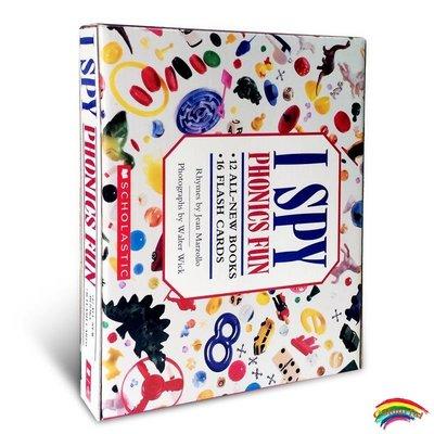 送音頻英文原版進口繪本 視覺大發現趣味游戲學英語I Spy I Like to Read Phonics Fun(12本書+16張卡片)兒童啟發看圖識字的樂趣