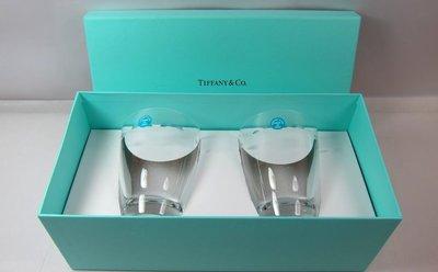 §Betty's日本古董&精品雜貨§保證真品Tiffany&Co.玻璃對杯組~