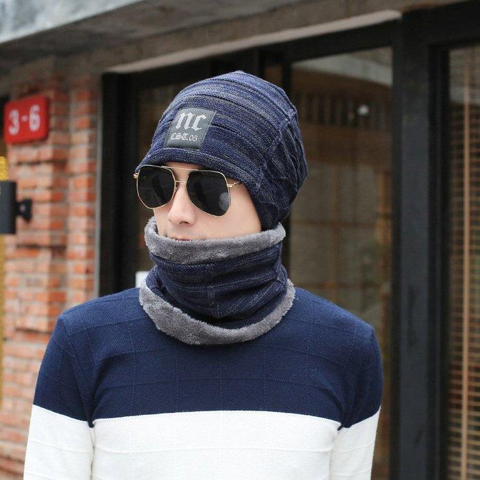 【藏私好物】針織帽保暖字母帽子男士冬季貼布護耳帽擋風NC加絨套頭毛線帽韓版