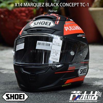 ❖茂木站❖日本 SHOEI X-14 全罩 安全帽 X14。MARQUEZ BLACK CONCEPT TC-1
