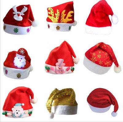 聖誕帽DIY兒童成人聖誕節裝飾裝扮禮物紅色寶寶聖誕帽子針織發箍