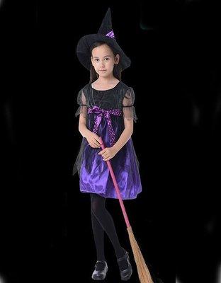 【洋洋小品兒童造型服俏麗小魔女蝴蝶結巫婆裝】兒童變裝萬聖節服裝聖誕節服裝表演角色扮演服裝道具化妝舞會面具