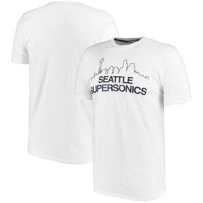NBA超音速隊Seattle SuperSonics Majestic Throwback Logo Refle短袖T恤