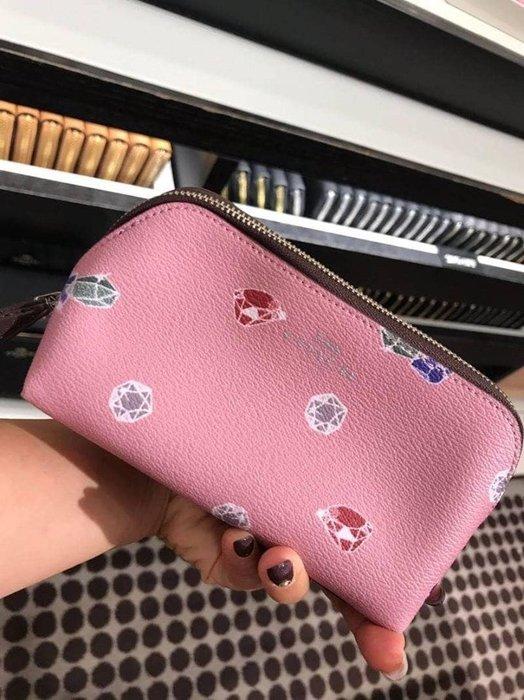美國代購-預購商品- COACH 可愛隨身化妝包/小物包