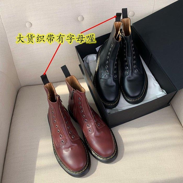 Love in Se韓國女鞋 InkingPot2020早秋8孔博士馬丁靴女側拉鍊歐陽娜娜同款騎士靴