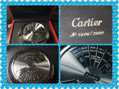 Cartier 限量萬年桌曆