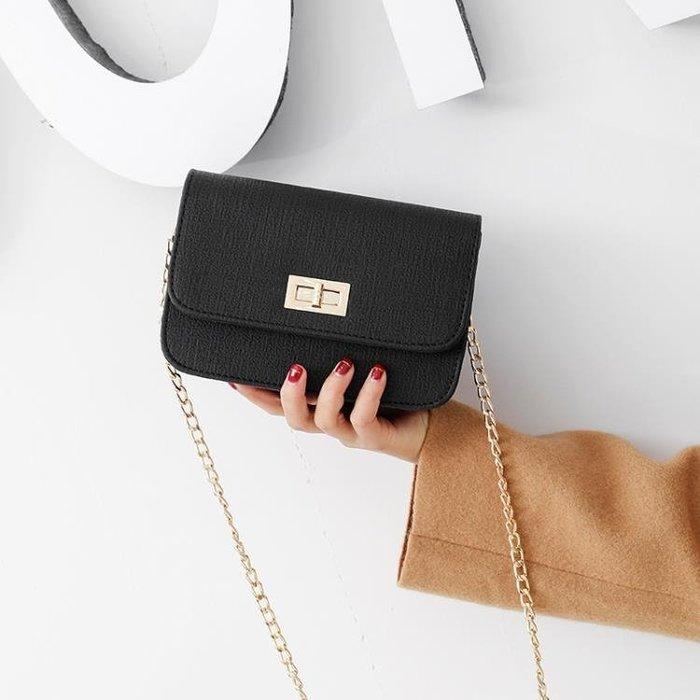 包包韓版新款chic鏈條小方包單肩斜挎包時尚鎖扣女包迷你小包