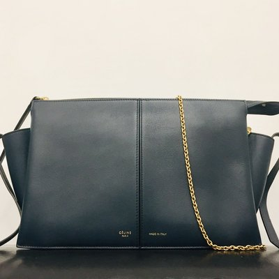 Celine Trifold leather chain clutch 袋