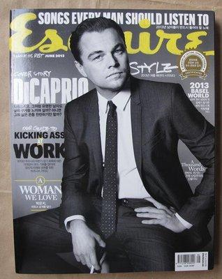 韓版男性流行時尚雜誌Esquire Korea 13年6月號 : Leonardo DiCaprio