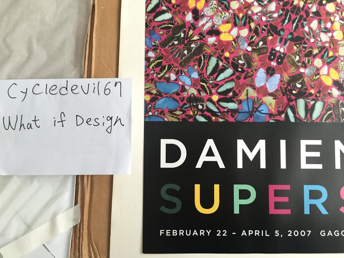 Damien Hirst Superstition 2007 Poster butterfly 蝴蝶海報 簽名