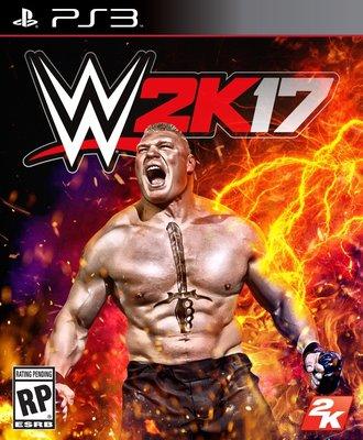 WWE 2K17 PS3 PlayStation 3 美國職業摔角遊戲