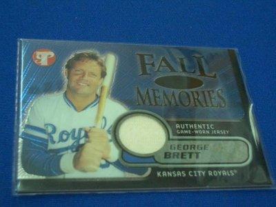 阿克漫259-13~MLB-2002年Topps Pristine限量1000張球衣特卡Georw Brett只有一張