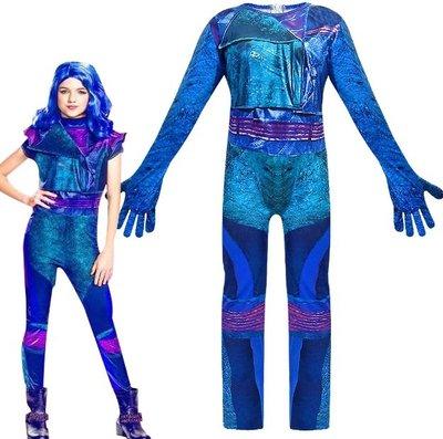 萬聖節變裝秀化裝舞會兒童服裝Descendants星光繼承者女童cosplay派對裝扮 (558)